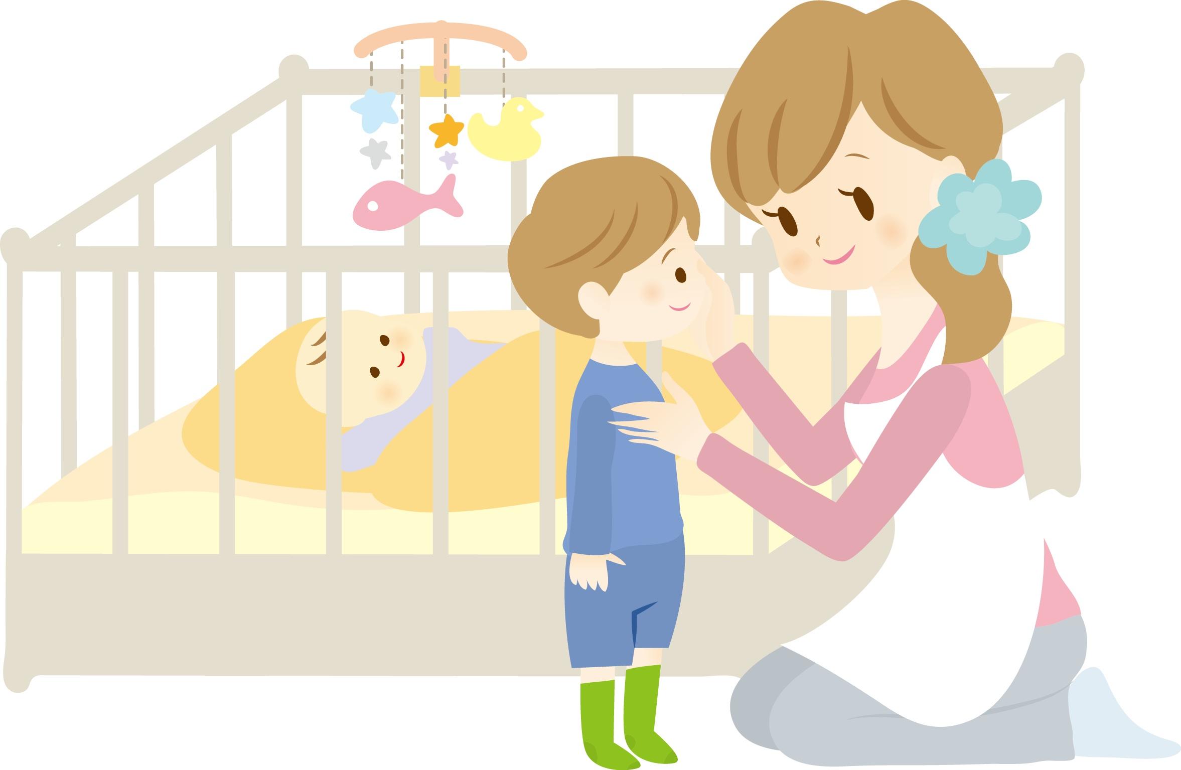 2人目の赤ちゃんの時はベビーベッドがあった方が安心です。