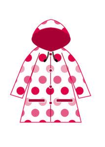 2歳児のヘアカットでケープを嫌がる時はお気に入りのレインコートがおススメです。