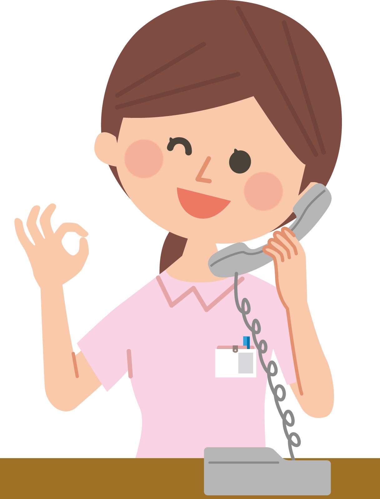 赤ちゃん連れで病院に行って良いか病院に電話で確認する