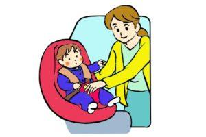 チャイルドシートは友人の車に乗せてもらう時も免除でも可能な限りつけて乗りたい。