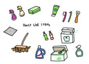掃除や手伝いの道具は、子供専用の物を100均で用意するとスムーズです