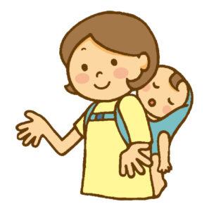赤ちゃんを連れて病院に行く時は抱っこ紐やおんぶ紐で連れて行きます。