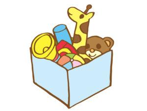 幼稚園の役員会議に用事を連れて行く場合は、お気に入りのおもちゃを持参します。