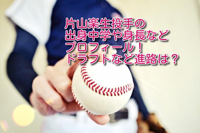 片山楽生 投手 出身 中学 身長 プロフィール ドラフト 進路