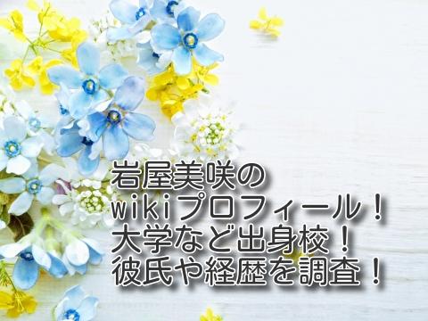 岩屋美咲のwikiプロフィール 大学 出身校 彼氏 姉妹 兄弟